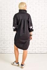 caryn lawn preppy star elbow dress