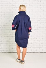 caryn lawn preppy star elbow dress