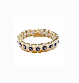 caryn lawn Evil eye navy diamond  bracelet