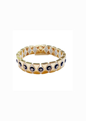 caryn lawn Evil eye navy diamond  bracelet
