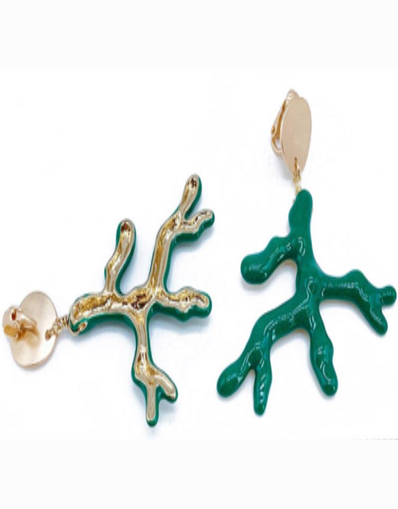 CB Designs cbd enamel coral green branch