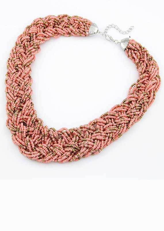 CB Designs Coral weave necklace