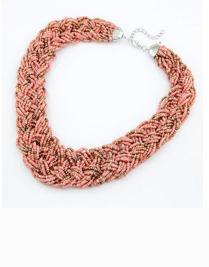 CB Designs coral weave necklace