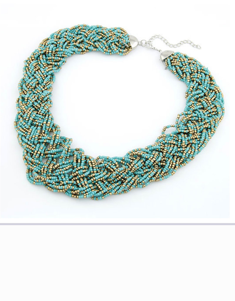CB Designs turquoise weave necklace