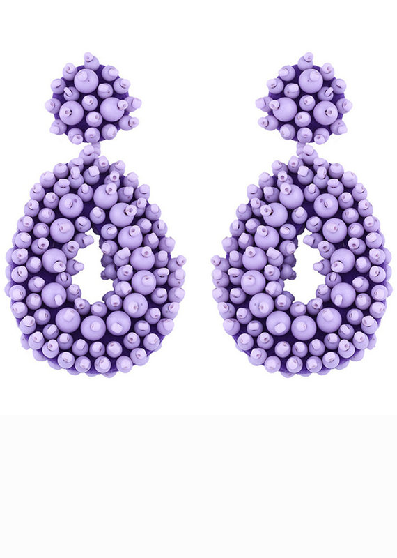 CB Designs Beaded hoops lilac