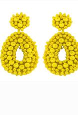 CB Designs cbd beaded hoops yellow