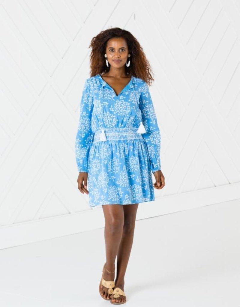SAIL TO SABLE r2045 long sleeve smocked waist dress