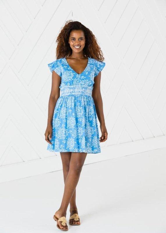 SAIL TO SABLE Short sleeve flutter dress