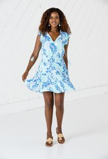 SAIL TO SABLE r20127 flutter sleeve ruched waist dress