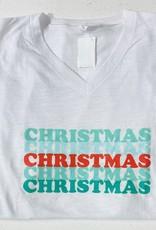christmas tee v neck