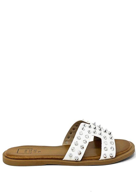shu shop Flat Sandal white