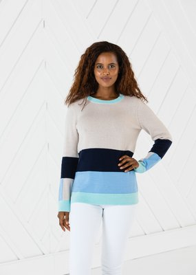 SAIL TO SABLE Long sleeve stripe sweater