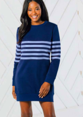 SAIL TO SABLE Stripe sweatshirt dress