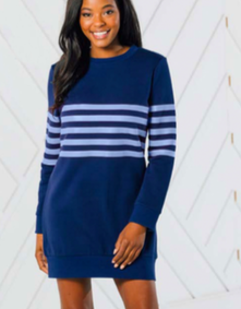 SAIL TO SABLE r20173 stripe sweatshirt dress
