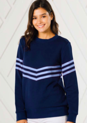SAIL TO SABLE INVERTED STRIPE SWEATSHIRT
