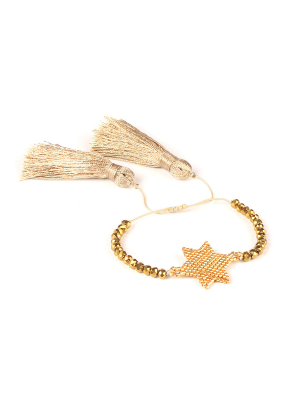 CB Designs Gold Star Bracelet