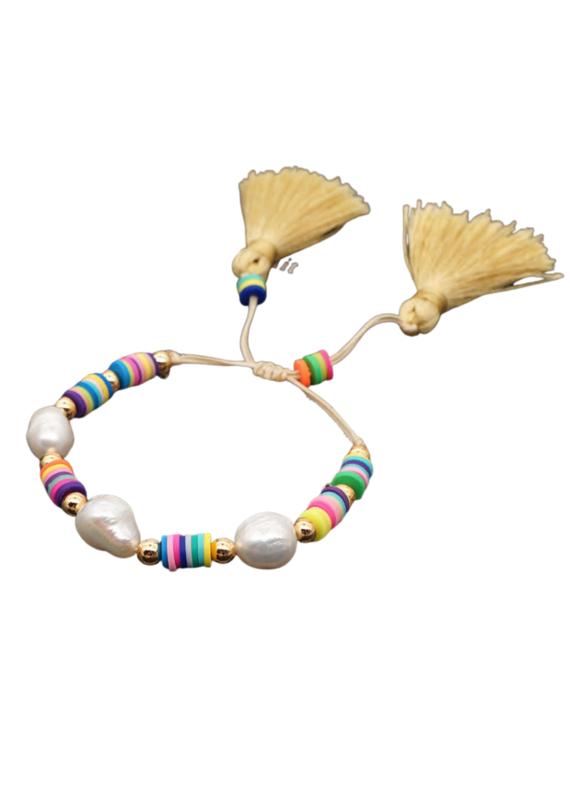 CB Designs Pearl Tassel Bracelet
