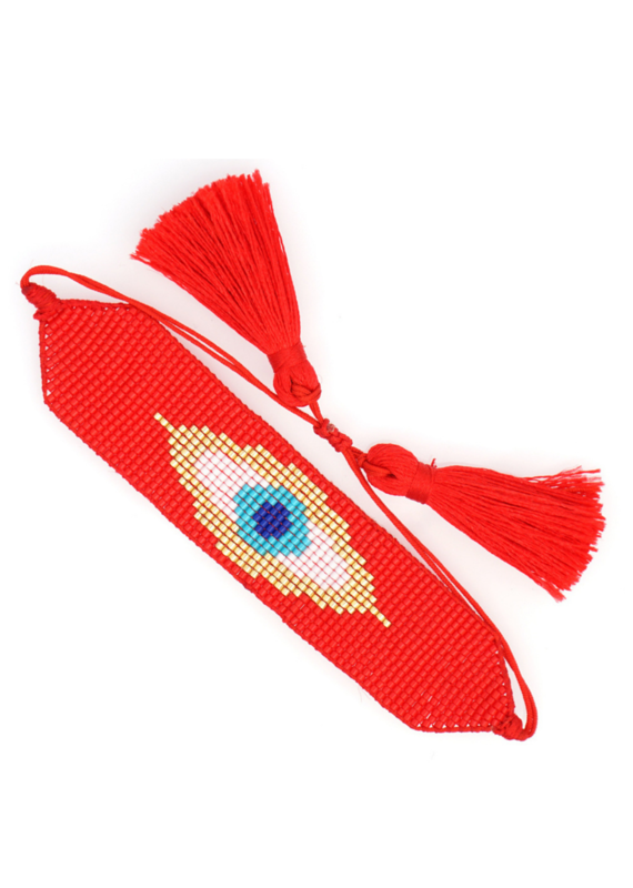 CB Designs Red Evil Eye Bracelet
