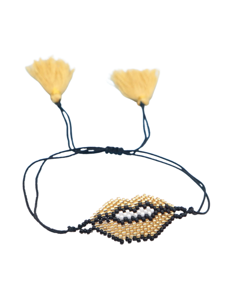CB Designs Gold Lips Bracelet