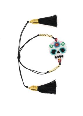 CB Designs Black Skull Bracelet