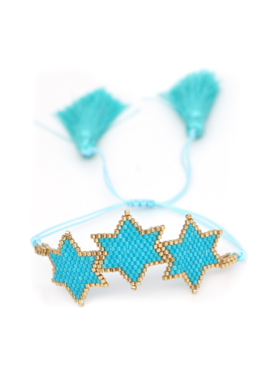 CB Designs Blue Star Bracelet