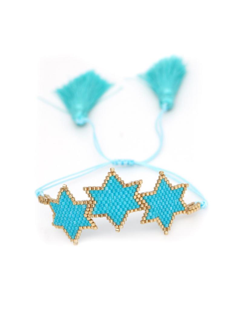 CB Designs Blue Star Bracelet