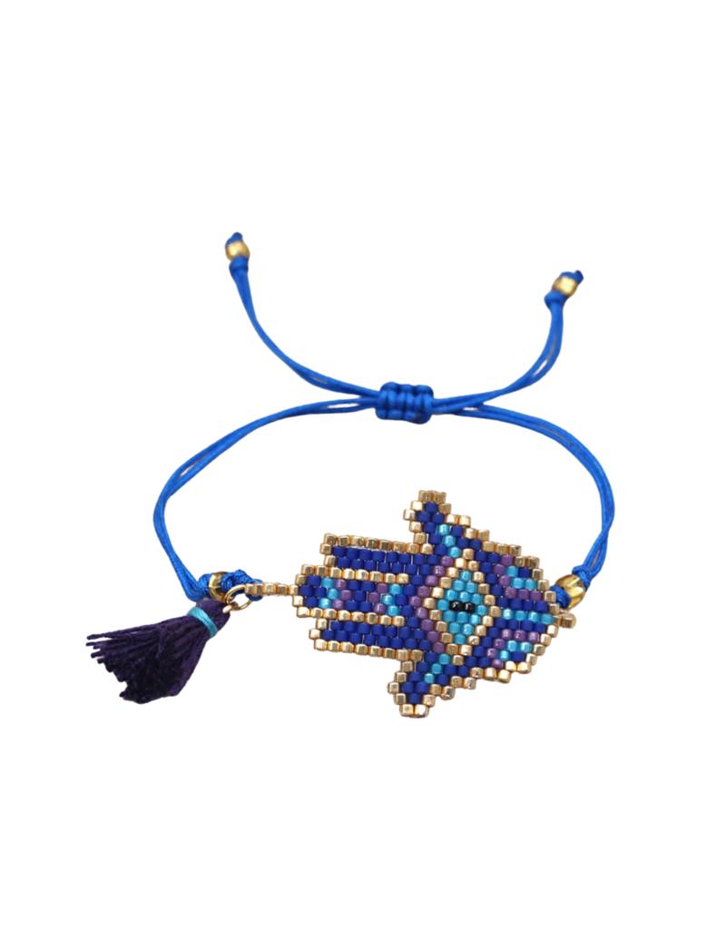 CB Designs Blue Hand Bracelet