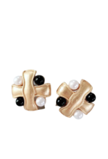 CB Designs Black and White Pearl Clips