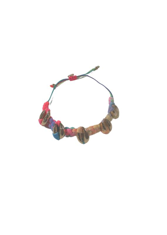 knotted mini 14k gold shell bracelet