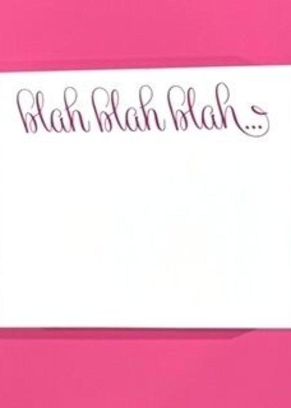 national print and design note pad blah blah
