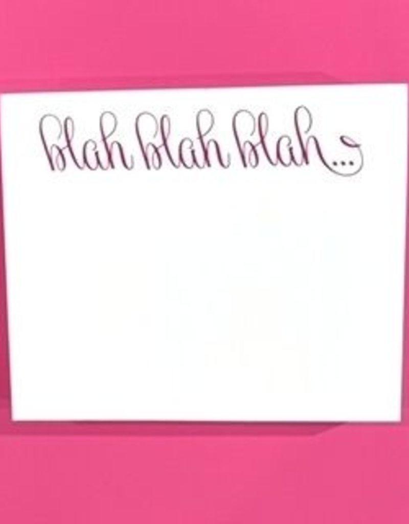 note pad blah blah