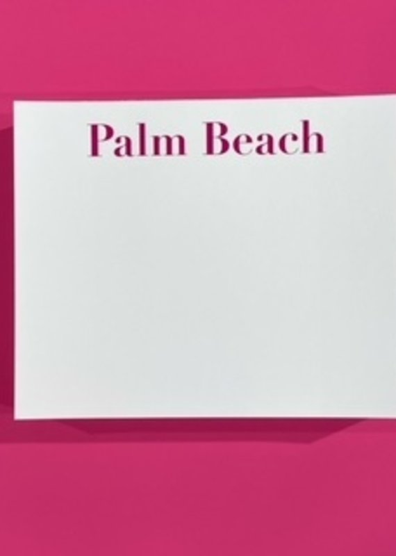 national print and design Note Pad Palm Beach