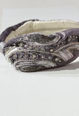 PREPPY GIRL Adorned headband in grey