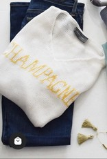 WOODEN SHIPS Champagne v neck Sweater