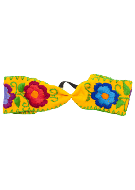 JOSEPHINE ALEXANDER Cloth flower headband yellow