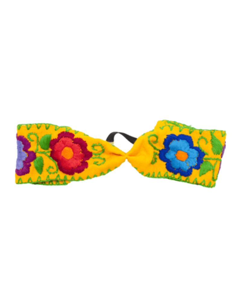 JOSEPHINE ALEXANDER cloth flower headband yellow
