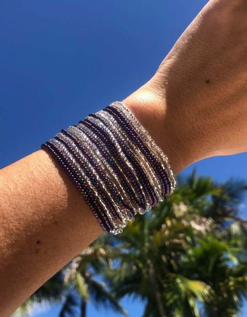 JOSEPHINE ALEXANDER Layered bracelet grape