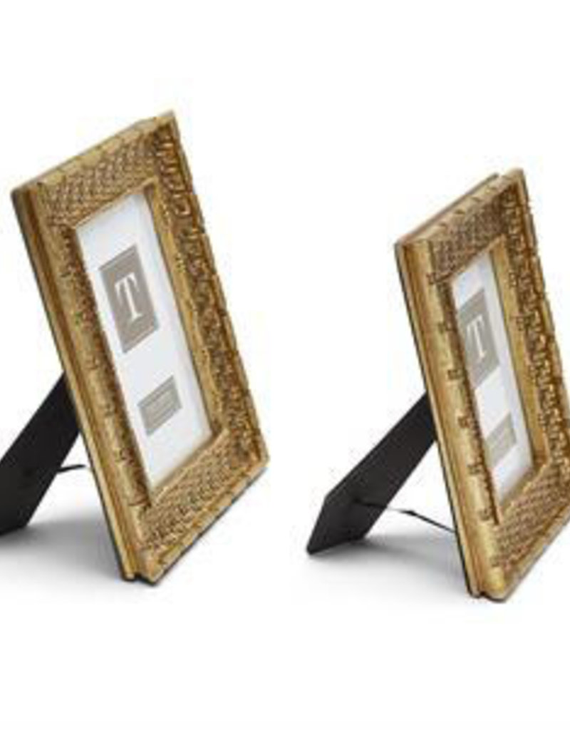 TWO'S COMPANY 53313 gold weave frame 5 x 7