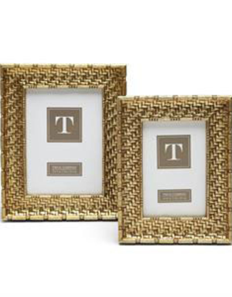 TWO'S COMPANY 53313 gold weave frame 4 x 6