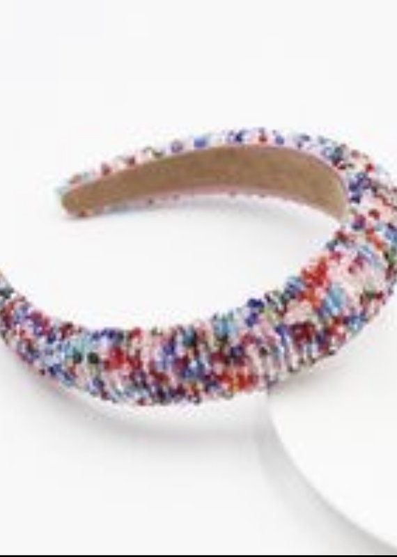 CB Designs beaded headband multi