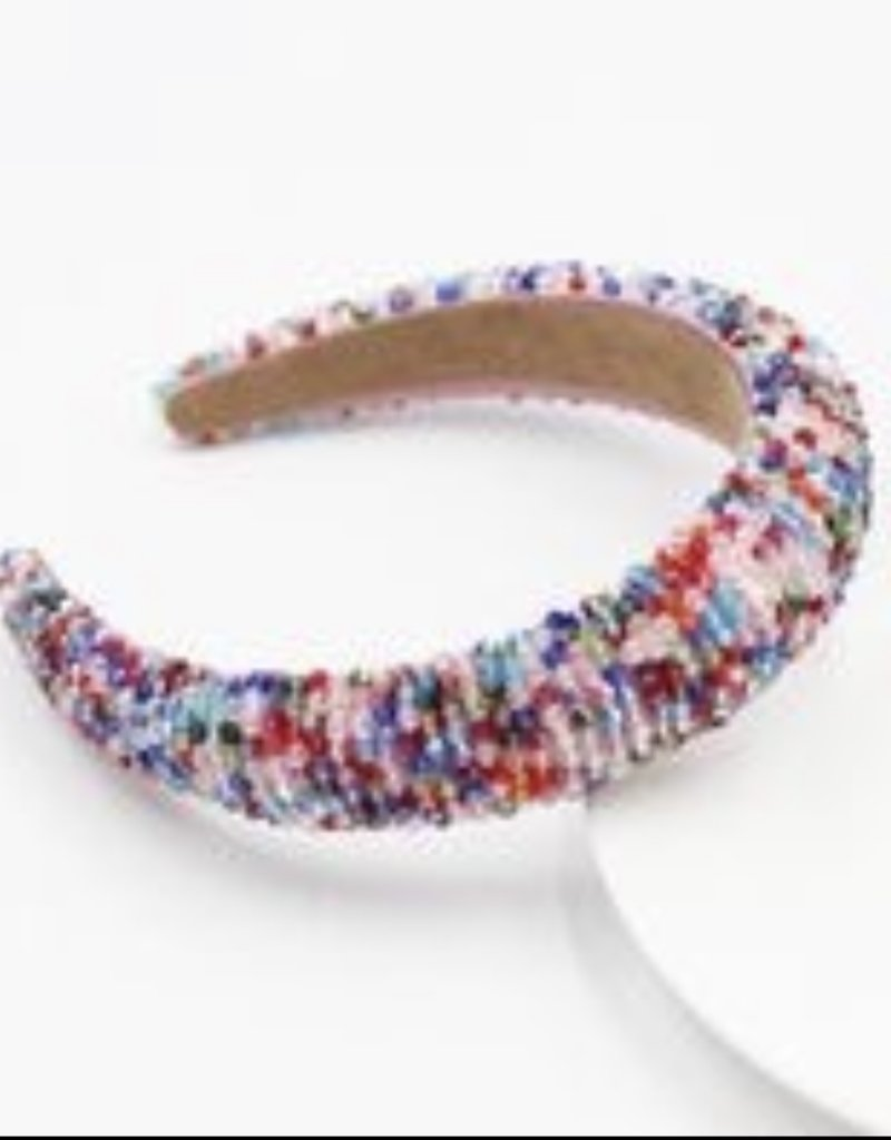 CB Designs beaded headband multi