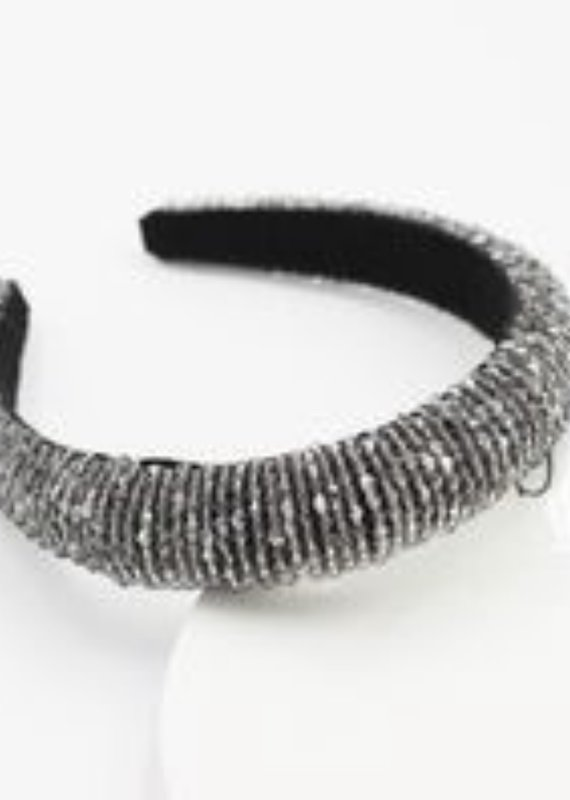 CB Designs Beaded headband silver