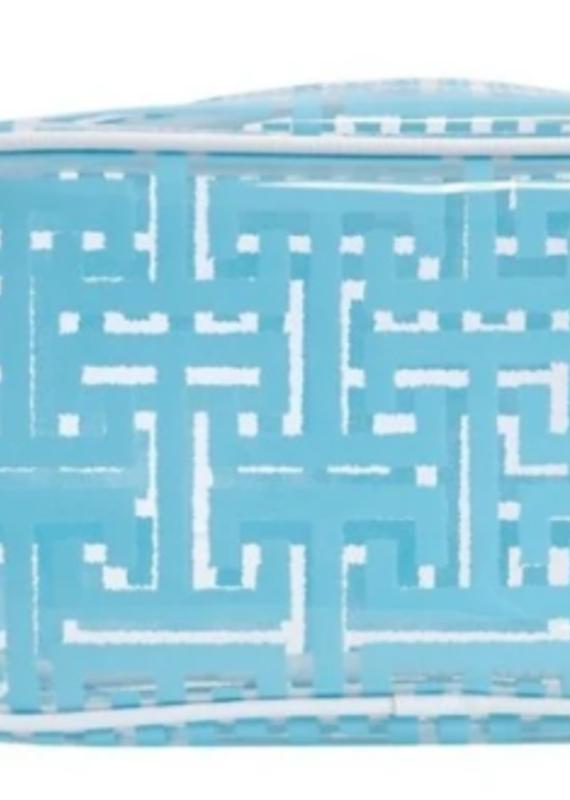 travel design Glam Clear print aqua trellis