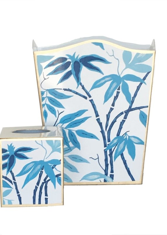 Wastebasket in blue fontaine