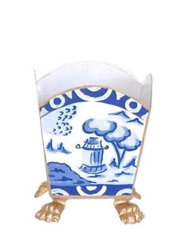 Cachepot canton blue
