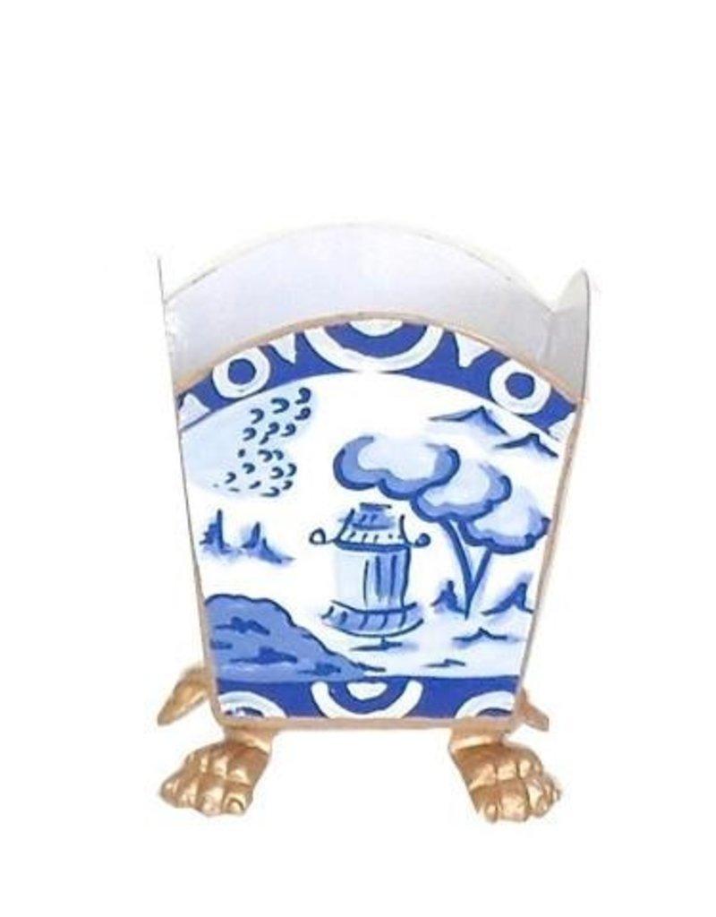 015-cb Cachepot canton blue