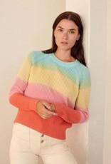 WHITE + WARREN 19212 Rainbow Sweater