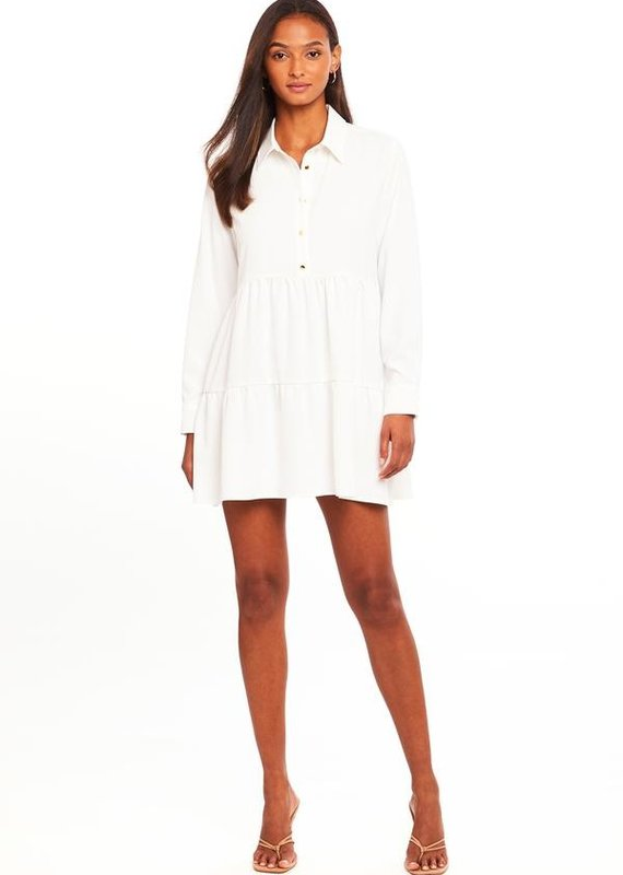 AMANDA UPRICHARD Long Sleeve Pierre Dress