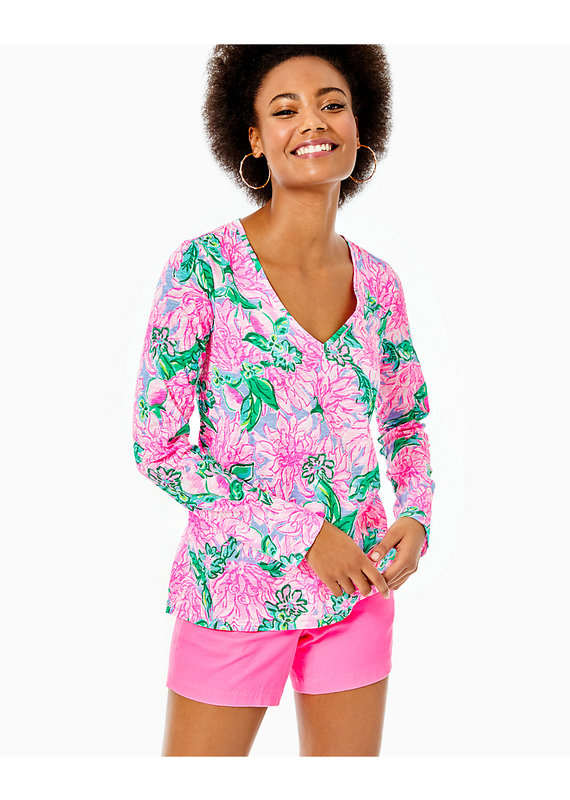 LILLY PULITZER ETTA LONG SLEEVE TOP