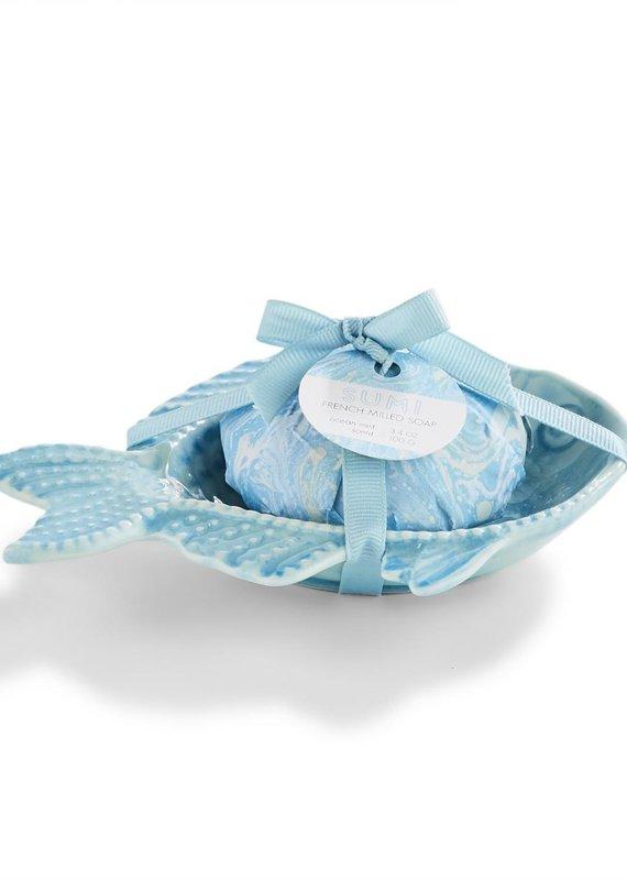 TWO'S COMPANY Fish soap dish